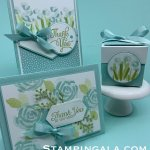 Thank you cards and gift box featuring the Abstract Impressions stamp set.