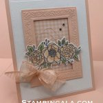 Birthday Card, Bloom & Grow Bundle, Heirloom Frames Dies & 3D Embossing Folders