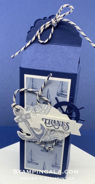 Treat Box featuring the Sailing Home stamp set.