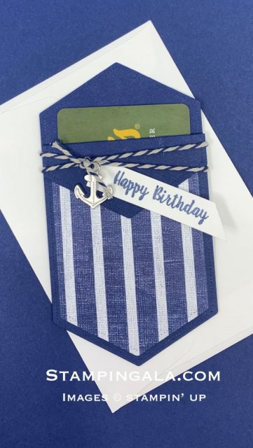 Gift Card Holder featuring the Sailing Home stamp set.