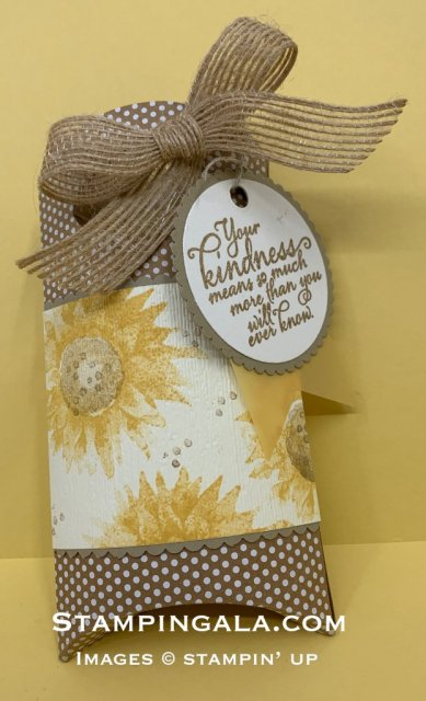 Treat Holder, Painted Harvest stamp set, two step stamping, fall