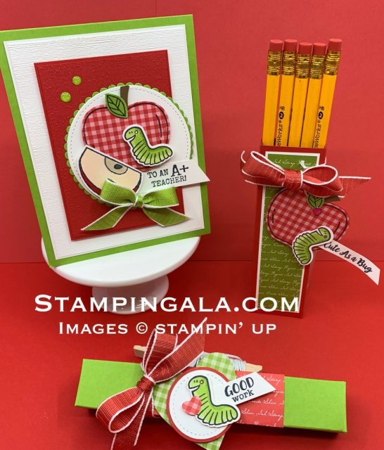 Harvest Hellos & Wiggle Worm stamp sets, teacher gifts & back to school treats