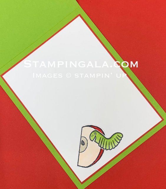Harvest Hellos & Wiggle Worm greeting card