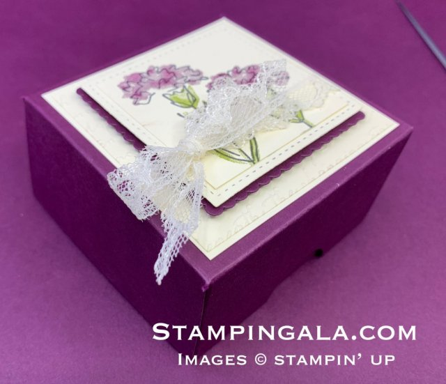 Gift Box, featuring the Inspiring Iris stamp set.