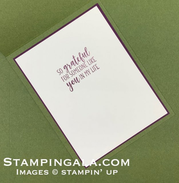 County Home stamp set, Stampin' Blends markers, thank you card