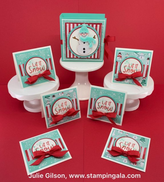 12 Days of Christmas - Day #3, Mini cards and holder