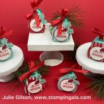 Mini Curvy Keepsakes Treat Holder, Let it Snow DSP, Snowman Season stamp set