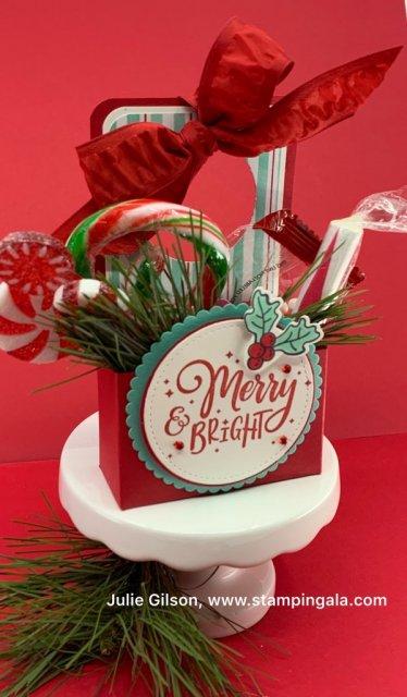 12 Days of Christmas - Day #9, door knocker treat holder, Let it Snow DSP
