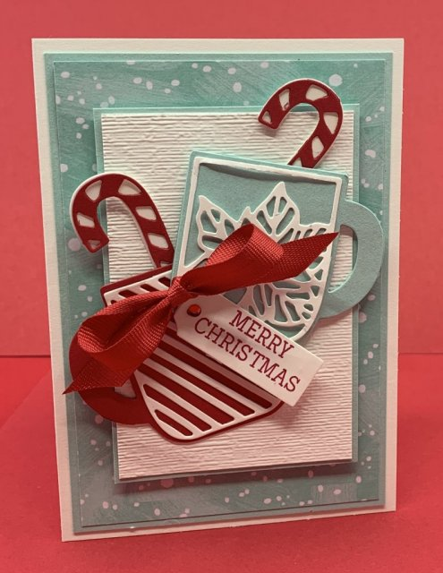 Christmas cards & treat holder using Stampin' Up's! Cup of Christmas & #Elfie stamp sets, #Stampin' Up, #Stampin Gala, #Christmas Crafts, #Stocking Stuffers