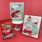 Christmas cards & treat holder using Stampin