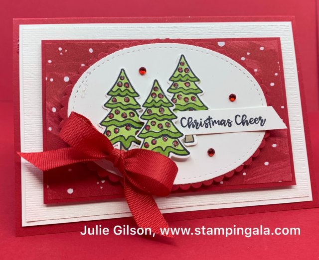 Yummy Christmas stamp set, Cuckoo Clock dies, Stampin' Blends Markers, #Christmas Cards, #treat holders, #stampin' up, #paper crafts