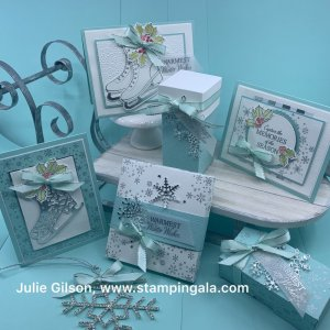Free Skate Bundle, Class to Go, Stampin' Up, #Free Skate, #Christmas Cards, #Stampin' Up, #Treat Holders, #Party Favors