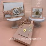 Greeting cards and mini purse created with Stampin