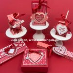 Create 6 adorable Valentine Treats with the Heartfelt Bundle, #Stampin