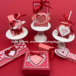 Create 6 adorable Valentine Treats with the Heartfelt Bundle, #Stampin' Up, #Stampin' Gala, #Valentine Treat, #3d