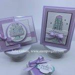 Birthday Cards & box using the Birthday Goodness stamp set. #Stampin