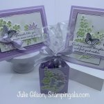 Greeting Card and Treat Holder created with the Positive Thoughts stamp set. #thinking of you, #Stampin