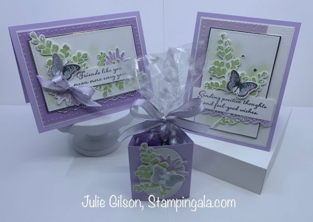 Greeting Card and Treat Holder created with the Positive Thoughts stamp set. #thinking of you, #Stampin' Up, #Stampin' Gala, #Easter