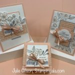 Greeting cards and gift box using the Forever Blossoms Bundle. #Stampin