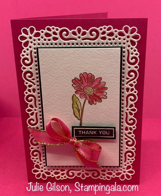 Birthday card & Thank you card created using the Ornate Garden Suite. #Stampin' Up, #Stampin' Gala, Treat Holder, #Stampin' Blends