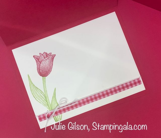 Mother's Day card featuring the Timeless Tulip stamp set. #Stampin' Up, #Stampin' Gala, #Mother's Day, #Lovely Lipstick