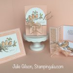 Greeting cards and a 3D treat holder created with the Free as a Bird stamp set. #Stampin
