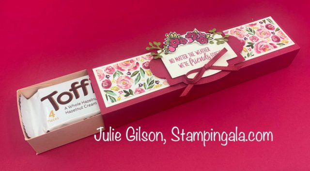 Greeting Cards and treat holder created with Stampin' Up's! Under My Umbrella Bundle. #Stampin' Up!, #Stampin' Gala, #Julie Gilson, #Umbrella Builder Punch, Bridal Shower, #3D