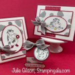 Over the Moon Stamp Set greeting cards and 3D treat holder. #Stampin