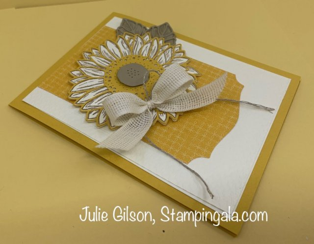 Celebrate Sunflowers projects for FB Live, #Stampin' Up, #Stampin' Gala, #Julie Gilson, #Birthday, #Treat Holder