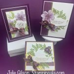 Greeting cards and gift box created with Stampin