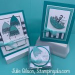 Handmade greeting cards created with the Pretty Parasol stamp set. #Stampin