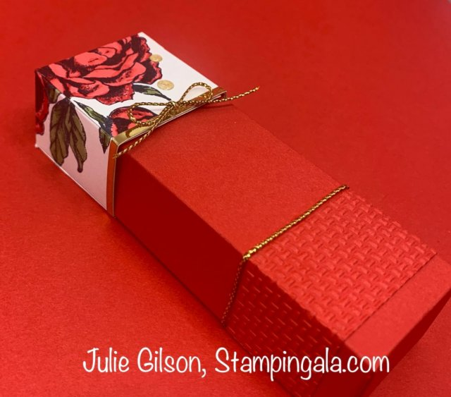 Great tips on how to get more mileage out of your embossing folders. #Prized Peony, #Stampin' Up, #Stampin' Gala, #Thank You Card, #Gift Box