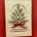 Christmas Card created with the Forever Gold Laser-Cut Specialty Paper & the Itty Bitty Christmas Stamp Set. #Stampin