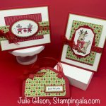 Christmas cards and gift card holder created with the Warm & Toasty stamp set. #Stampin